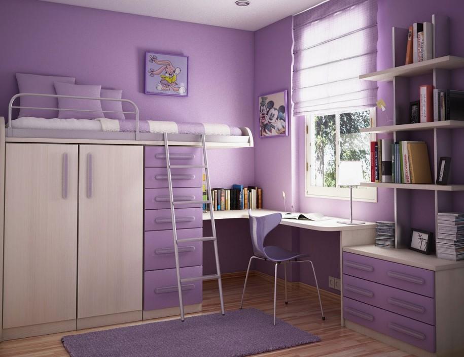 desain warna pink untuk kamar remaja