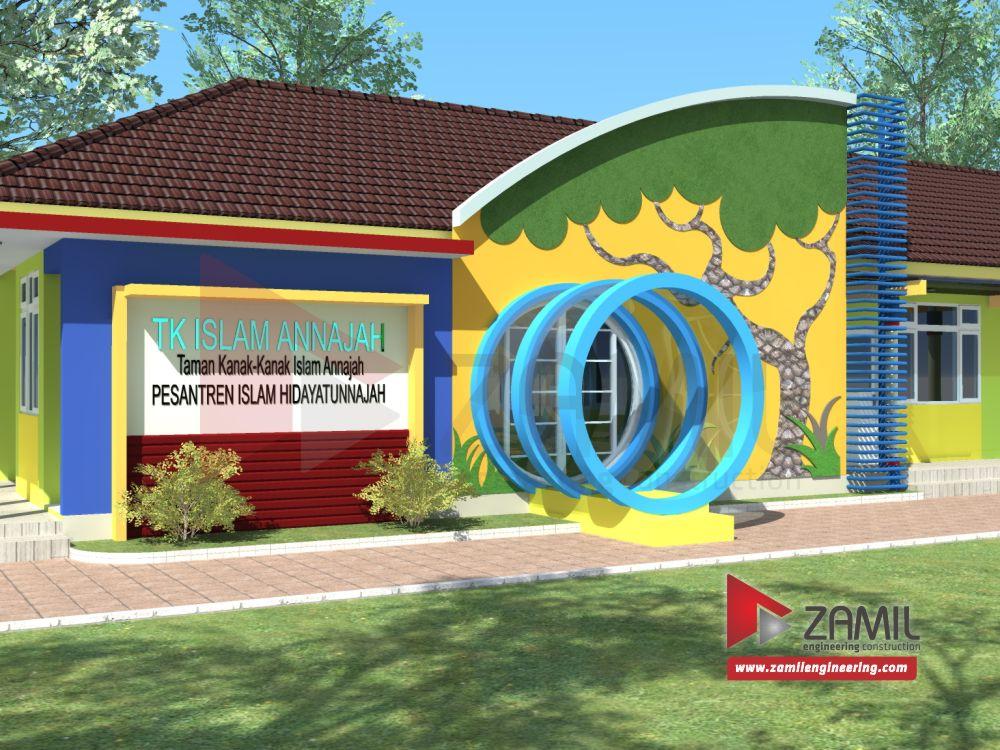 Desain Bangunan Sekolah Taman Kanak Kanak Minimalis Terbaru